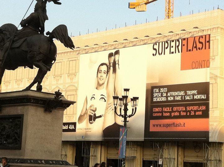 Intesa San Paolo, advertisementSuper Flash card, 2010-2011
