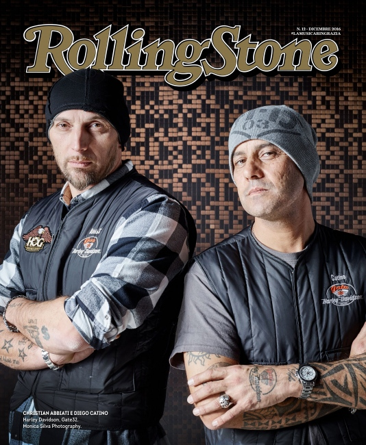 Photography image - Rolling Stone Italia: Christian Abbiati and Diego Catino for Harley Davidson photographed at Eicma 2016