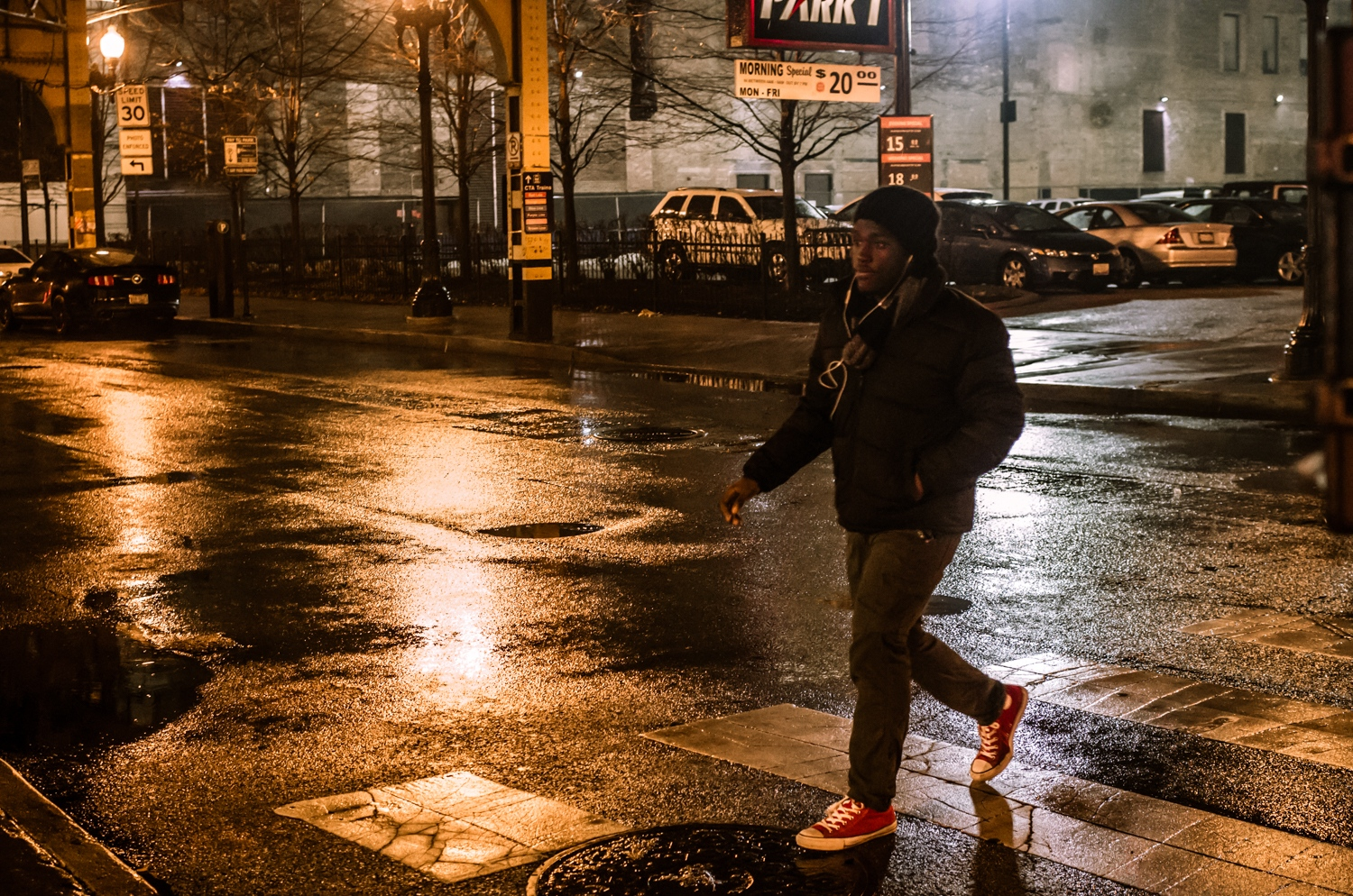 Art and Documentary Photography - Loading -The_Street_as_Graphic_Novel__Man_in_crosswalk__Wabash_Ave.jpg