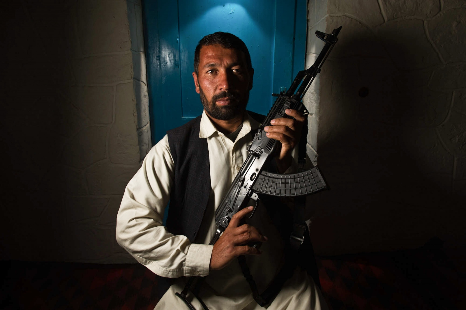 Portrait of a security guard in Bamiyan, Afghanistan.