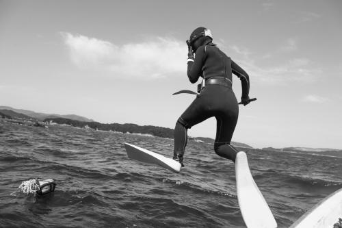 Ijikacho, Toba, Aiko Ohno, diving in the ocean.