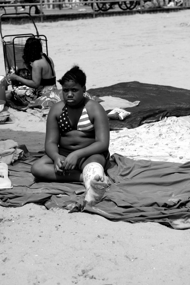 American Flag Bikini and Foot Cast. Coney Island, NY, Summer 2011
