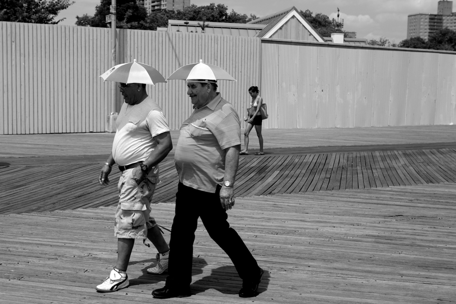 Umbrella Heads. Coney Island, NY, Summer 2011