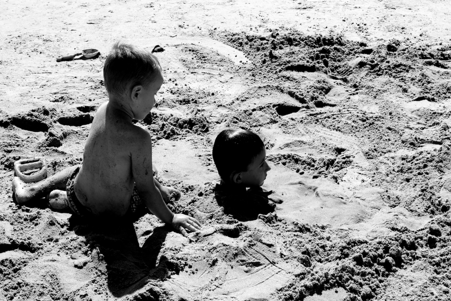 Head in the Sand. Coney Island, NY, Summer 2011