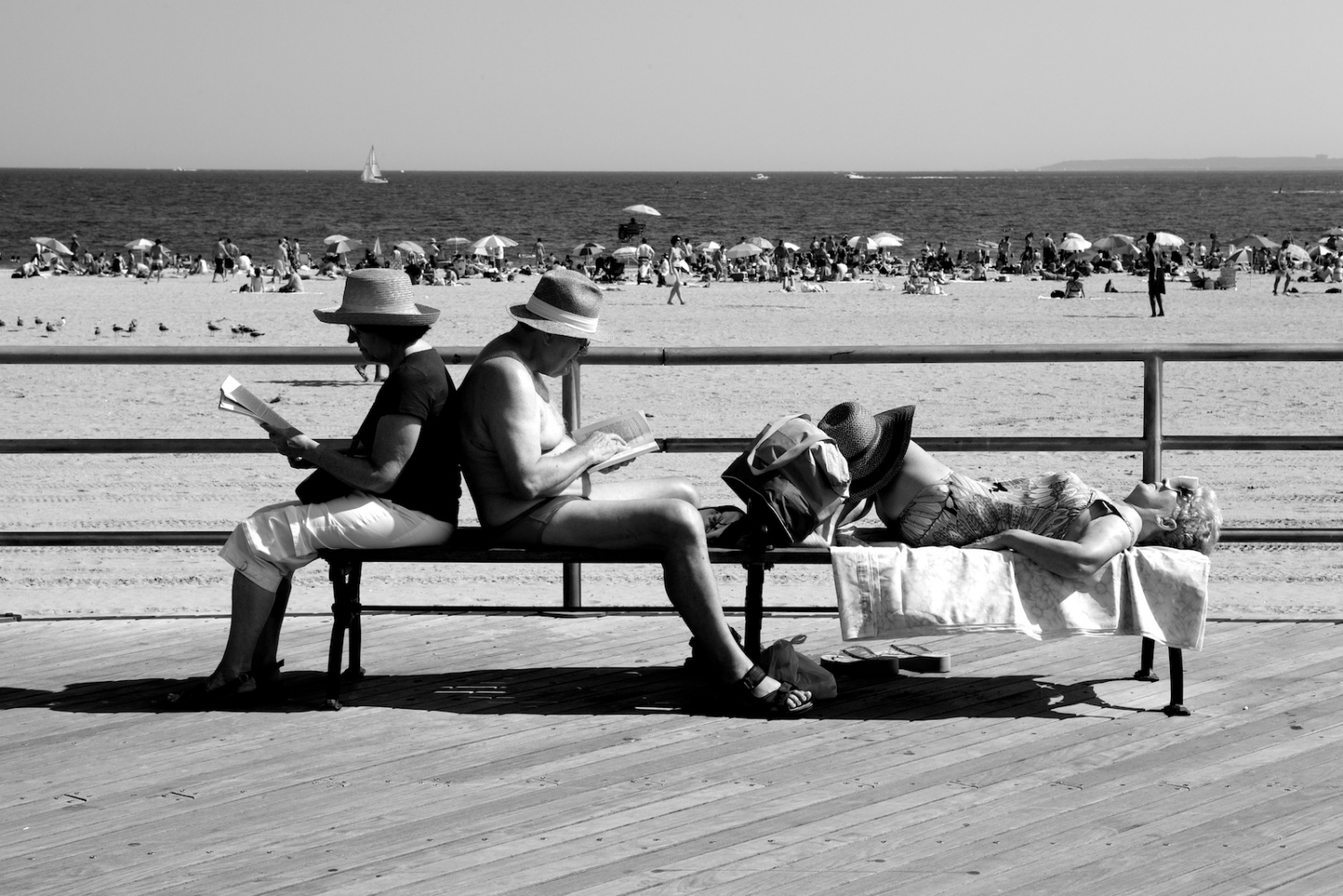 Bookends. Coney Island, NY, Summer 2011