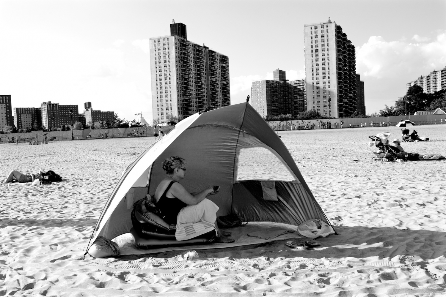 Lady in Her Tent. Coney Island, NY, Summer 2011