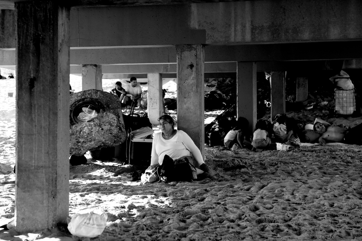 Alone Under the Pier. Coney Island, NY, Summer 2011