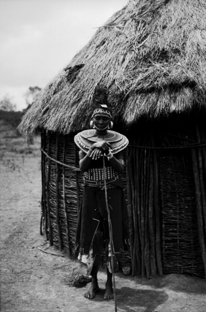 Lady by Her Hut, Mugie Ranch, Kenya, August 2002