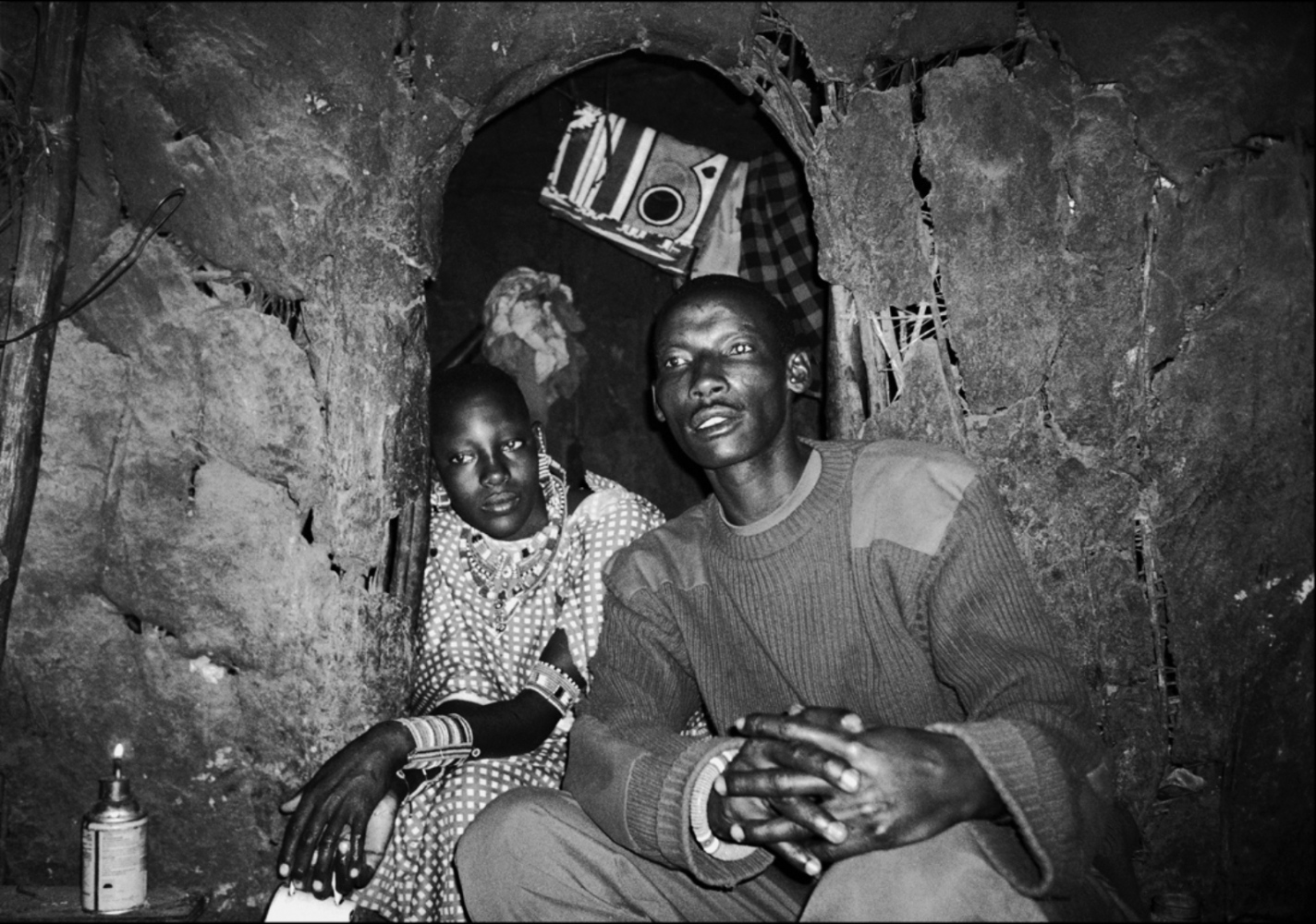 Man and Wife in Hut, Chyulu Hills, Kenya, August 2002