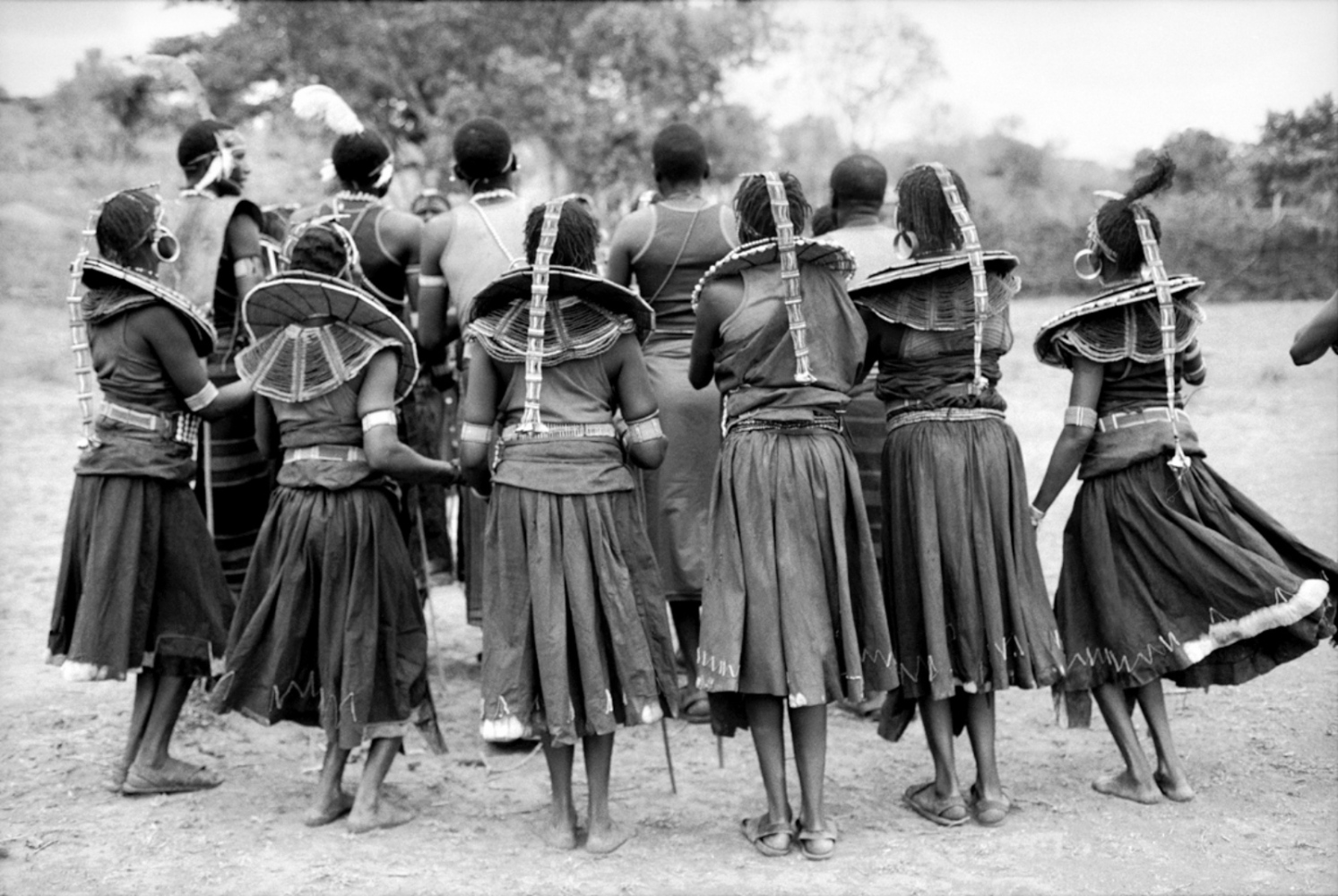The Backs of Dancing Women, Mugie Ranch, Kenya, August 2002