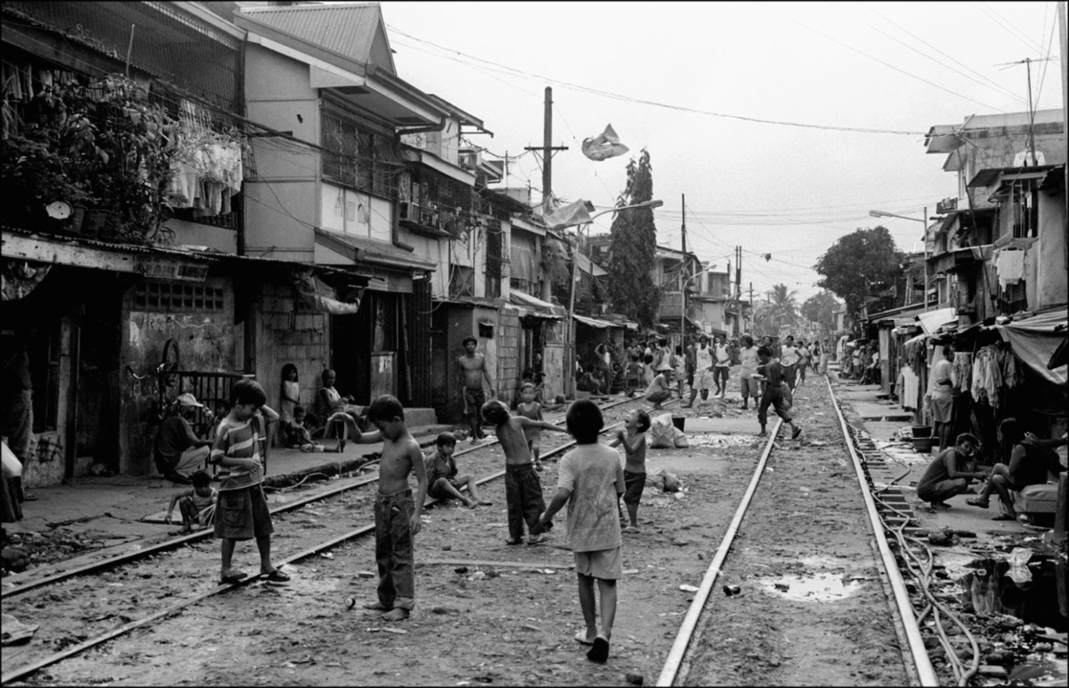Kids Playing on Tracks, Laong-Laan-St. Sampaloc, Manila, Philippines, November 2005