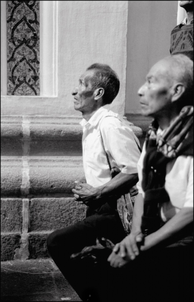 Men Praying, Antigua, Guatemala, April 2006