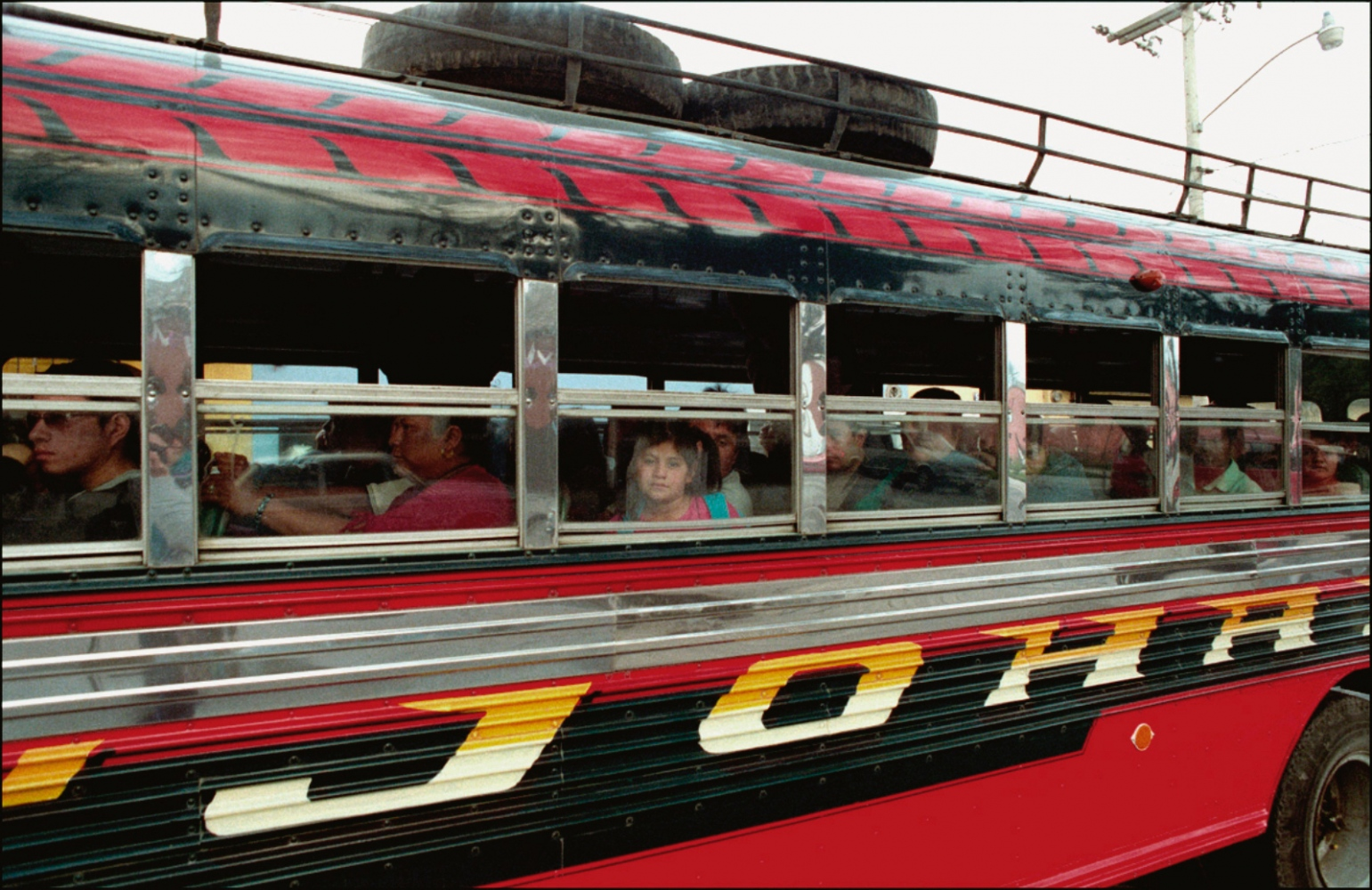 Child on Bus, Antigua, Guatemala, April 2006