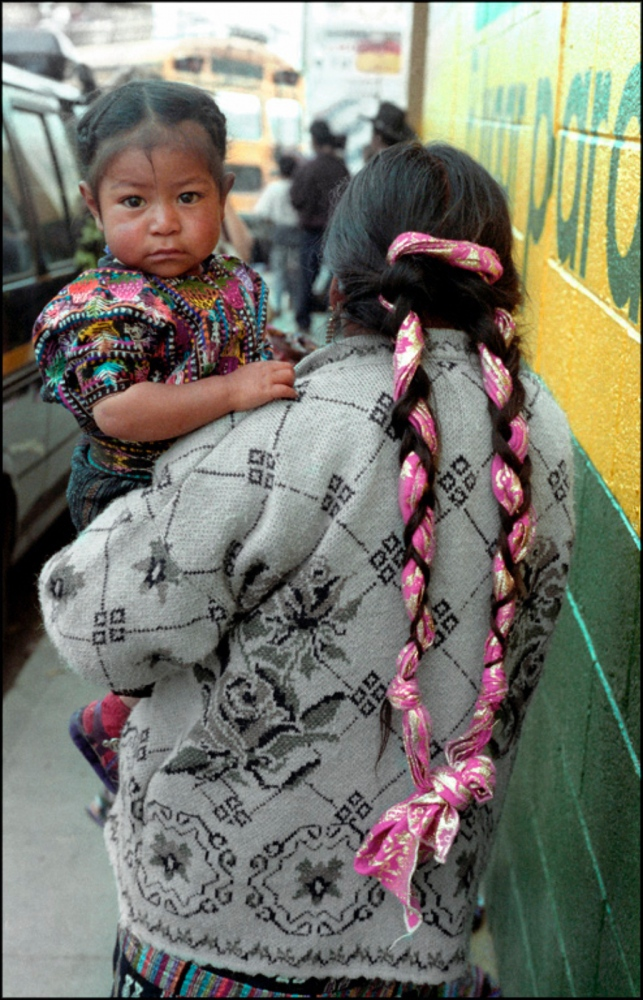Child and Mother with Braid, Solola, Guatemala, April 2006