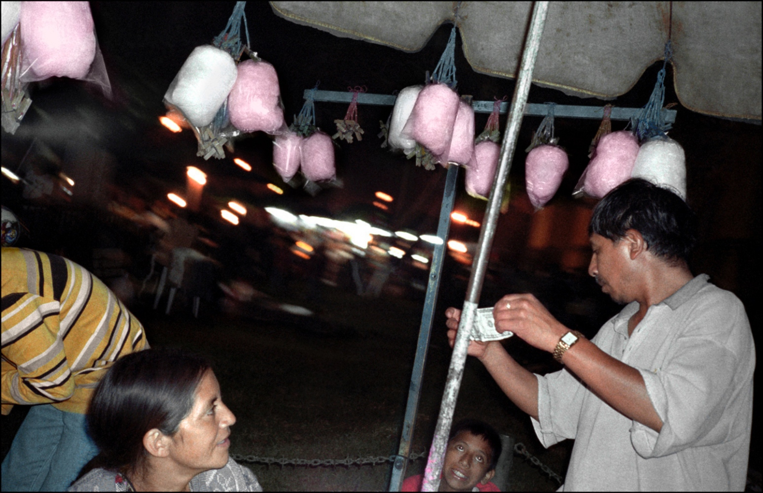Cotton Candy Man, Antigua, Guatemala, April 2006
