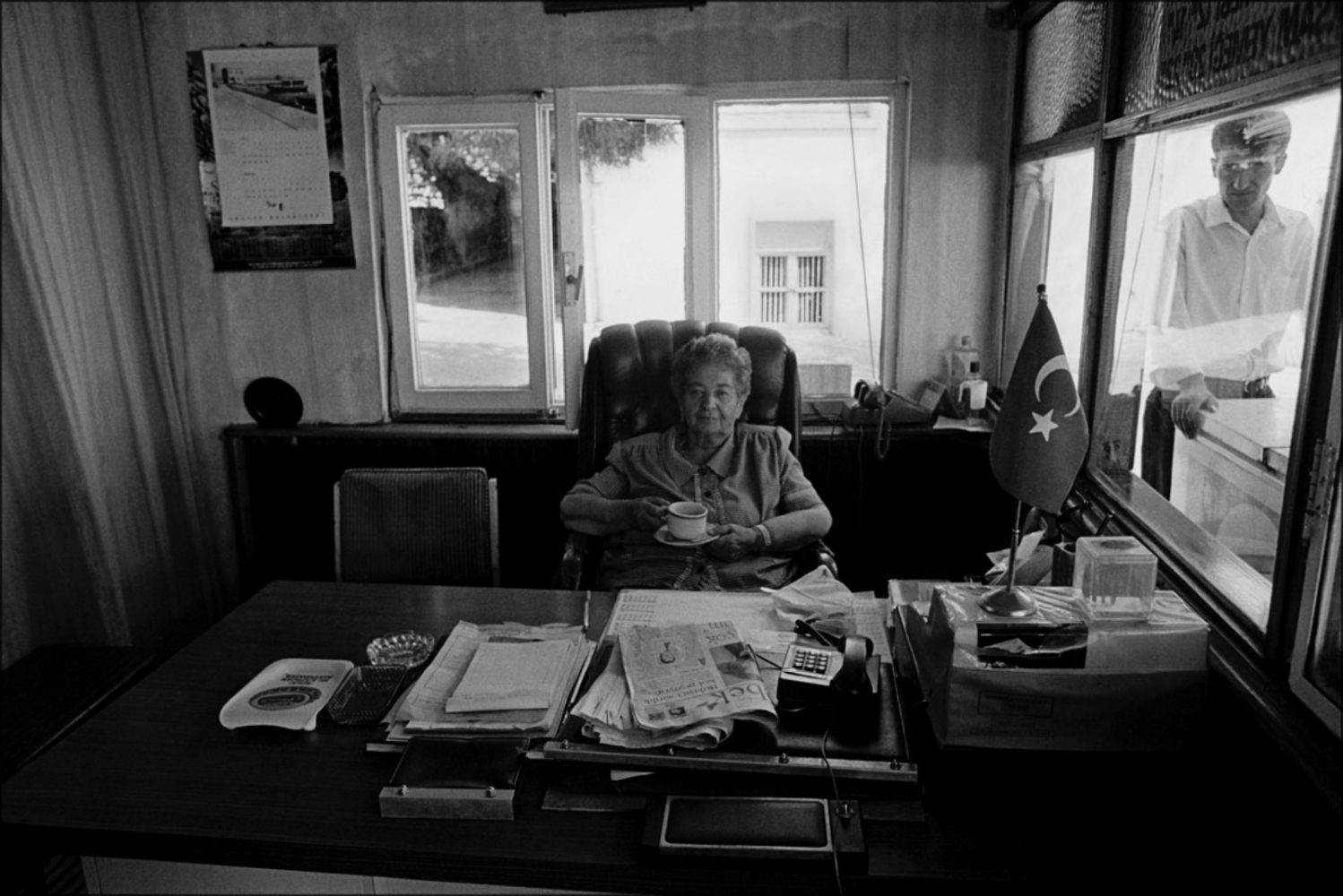 Woman at Her Desk, Turkey, Summer 1997