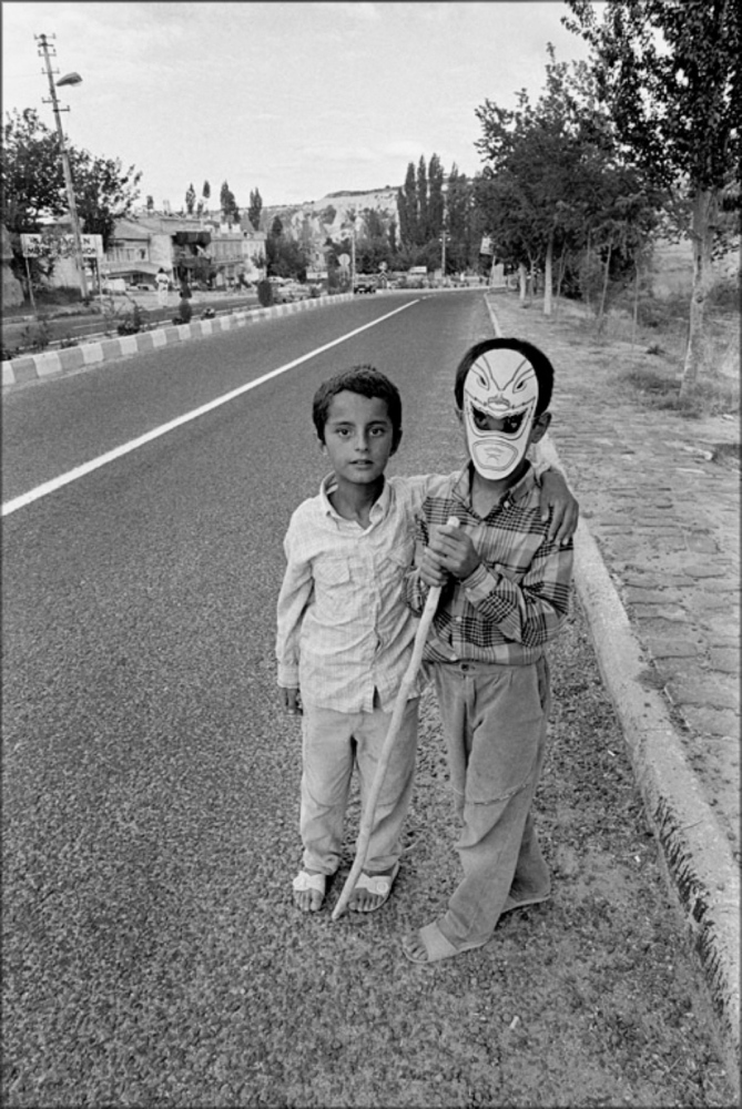 Boy with Mask and Friend, Turkey, Summer 1997