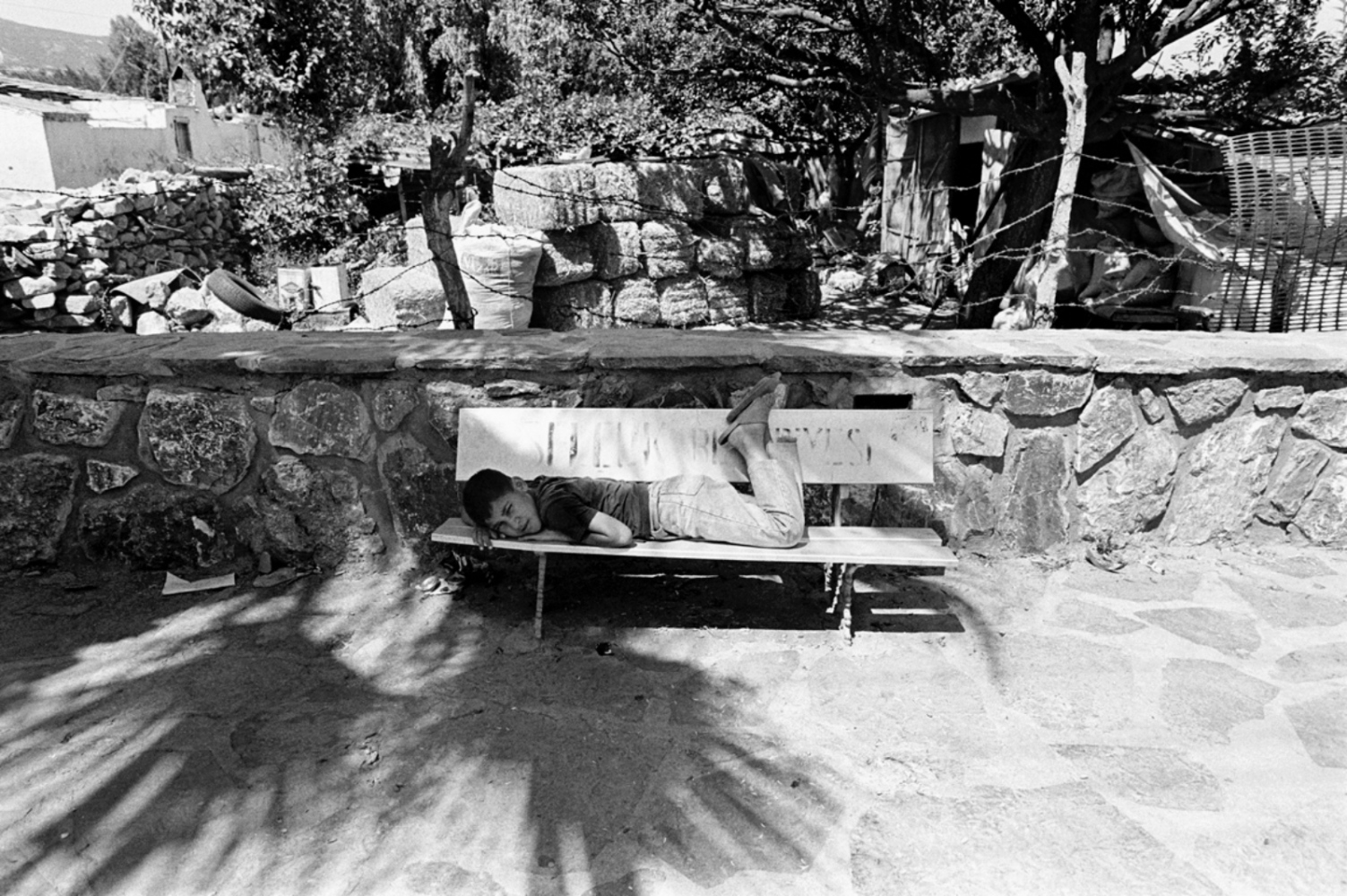 Boy Lying on Bench, Turkey, Summer 1997