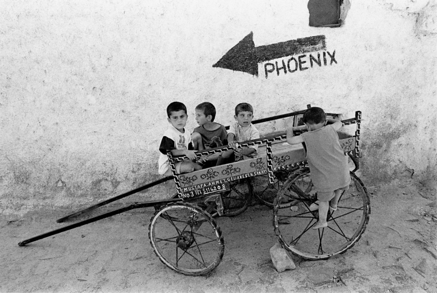 Children on Phoenix Cart, Turkey, Summer 1997