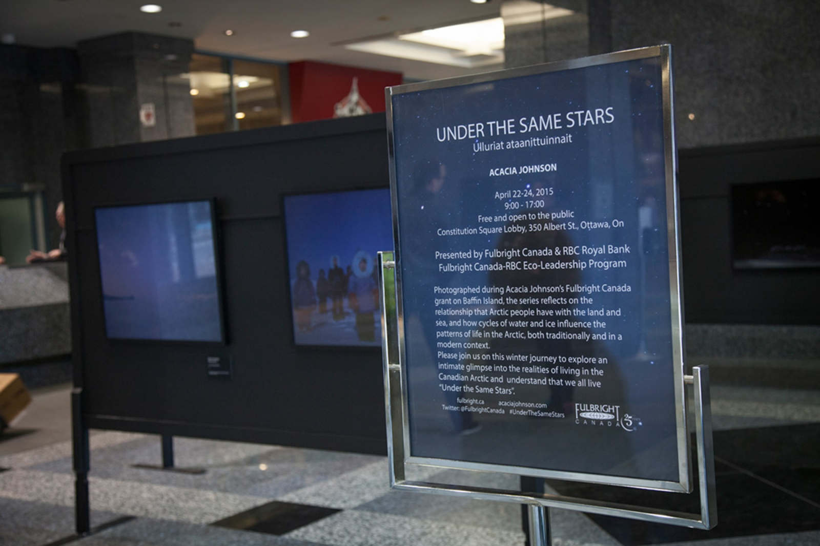 Under the Same Stars Solo Exhibition, Constitution Square Ottawa, Canada, 2015