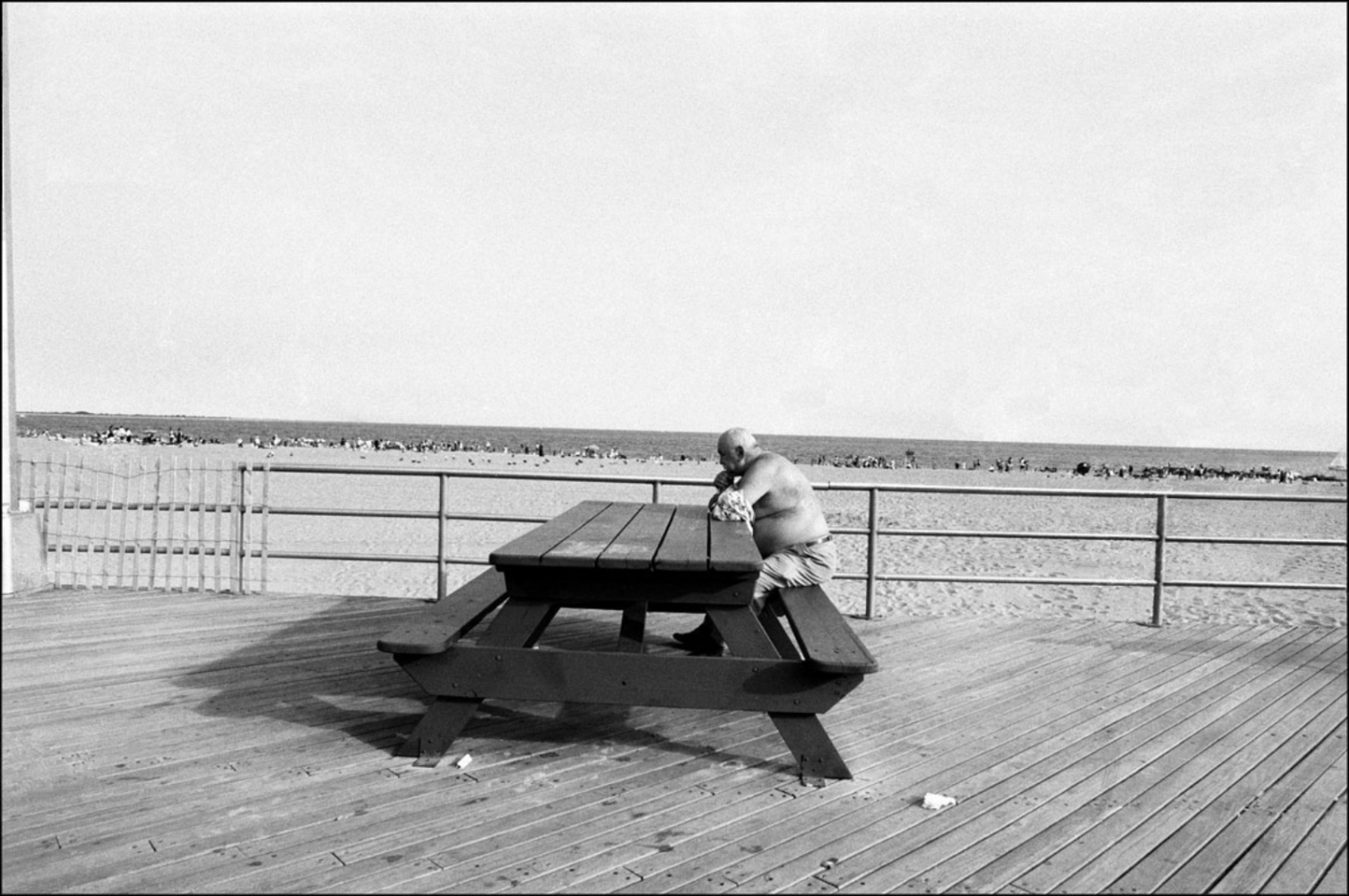 Alone at Table, Coney Island, NY, July 4, 2004