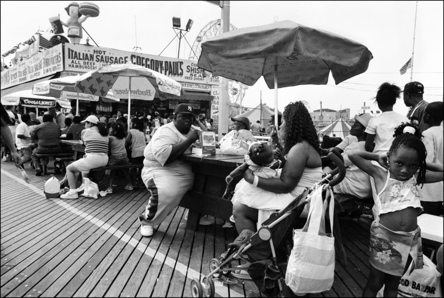 Lunch, Coney Island, NY, July 4, 2004