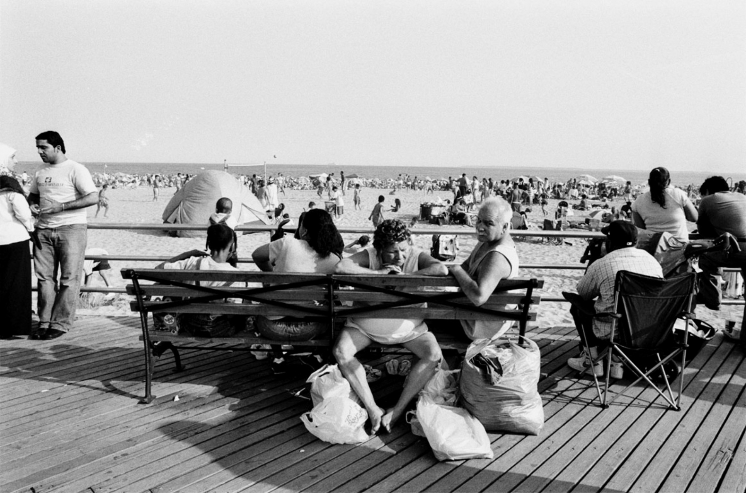 Curlers at the Beach, Coney Island, NY, July 4, 2004