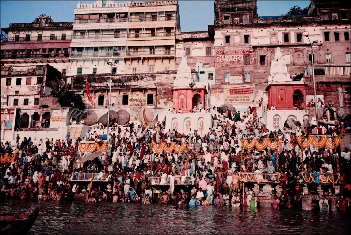 View of Varanasi, Varanasi, India, November 2003