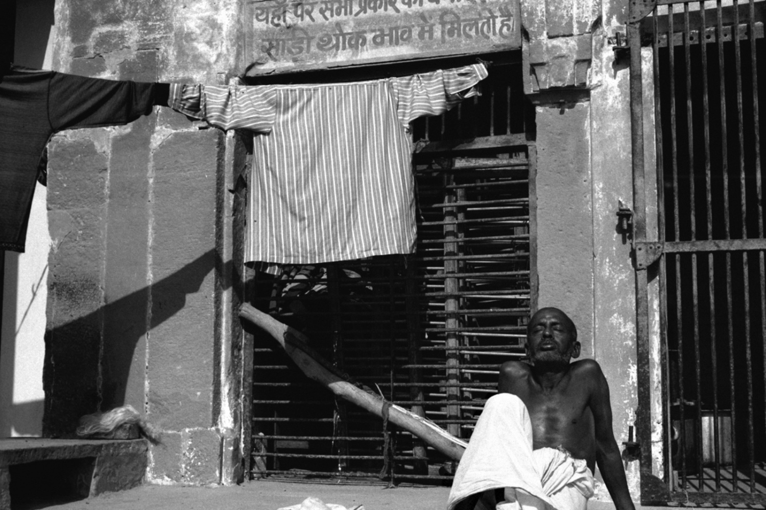 Man and Shirt, Varanasi, India, November 2003
