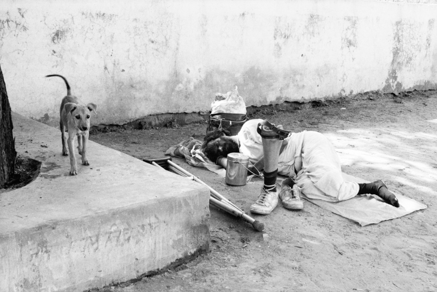 Sleeping Amputee, Pushkar, India, November 2003