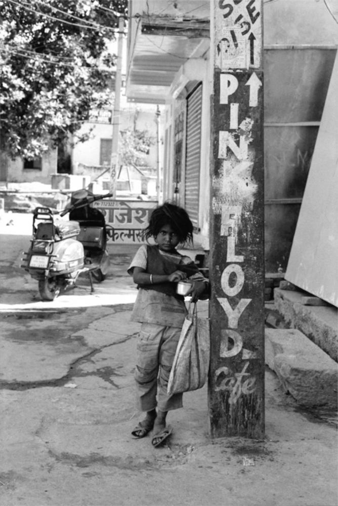 Young Girl by Pink Floyd Column, Pushkar, India, November 2003
