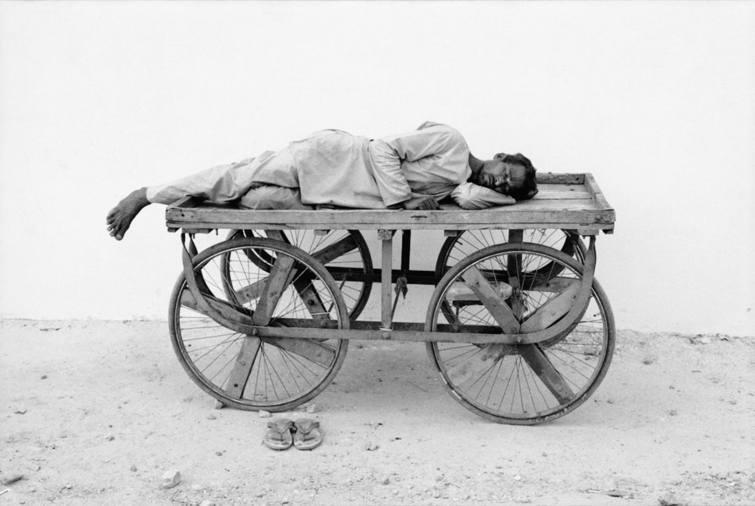 Man Asleep on Cart, Pushkar, India, November 2003