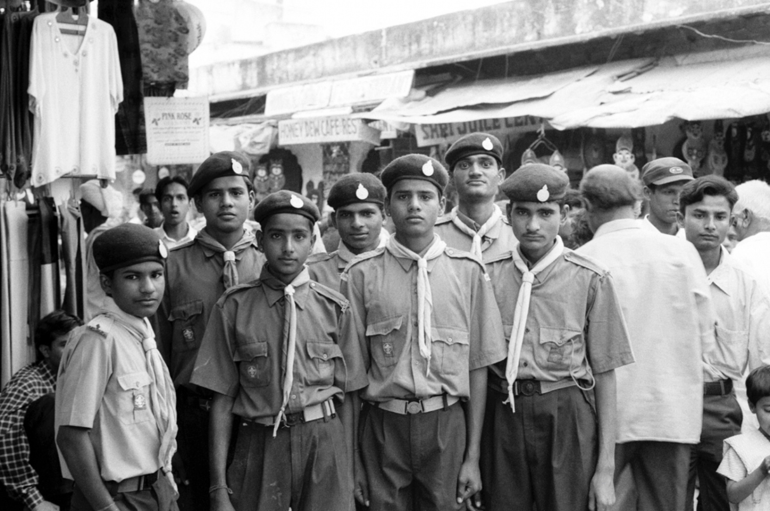 Boy Scouts, Pushkar, India, November 2003