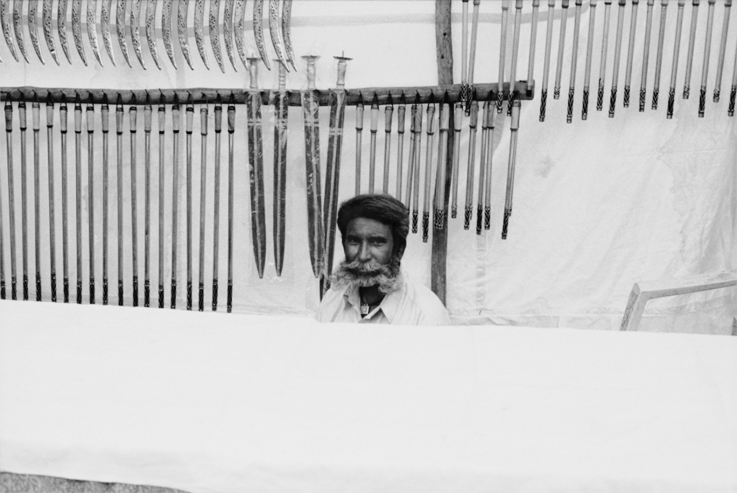 Man and Knives, Pushkar, India, November 2003