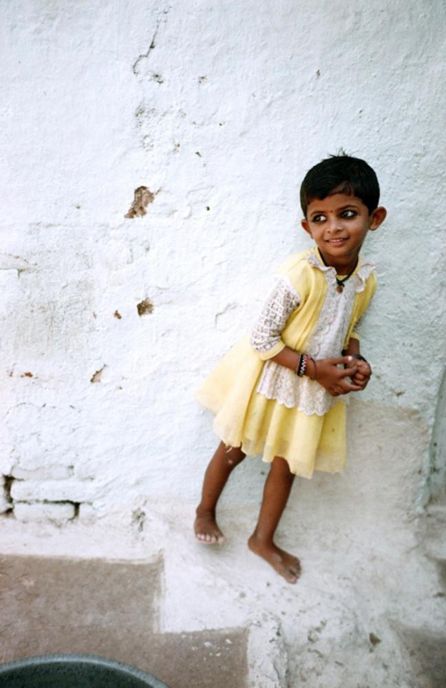 Girl in Yellow, Khajuraho, India, November 2003