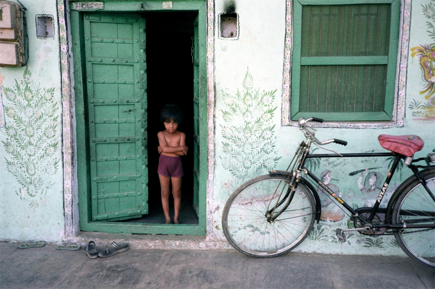 Boy and Bicycle, Pushkar, India, November 2003