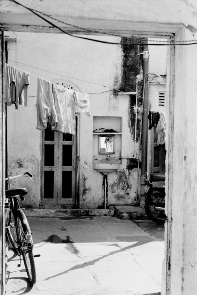 Bike, Sink, Laundry, Pushkar, India, November 2003