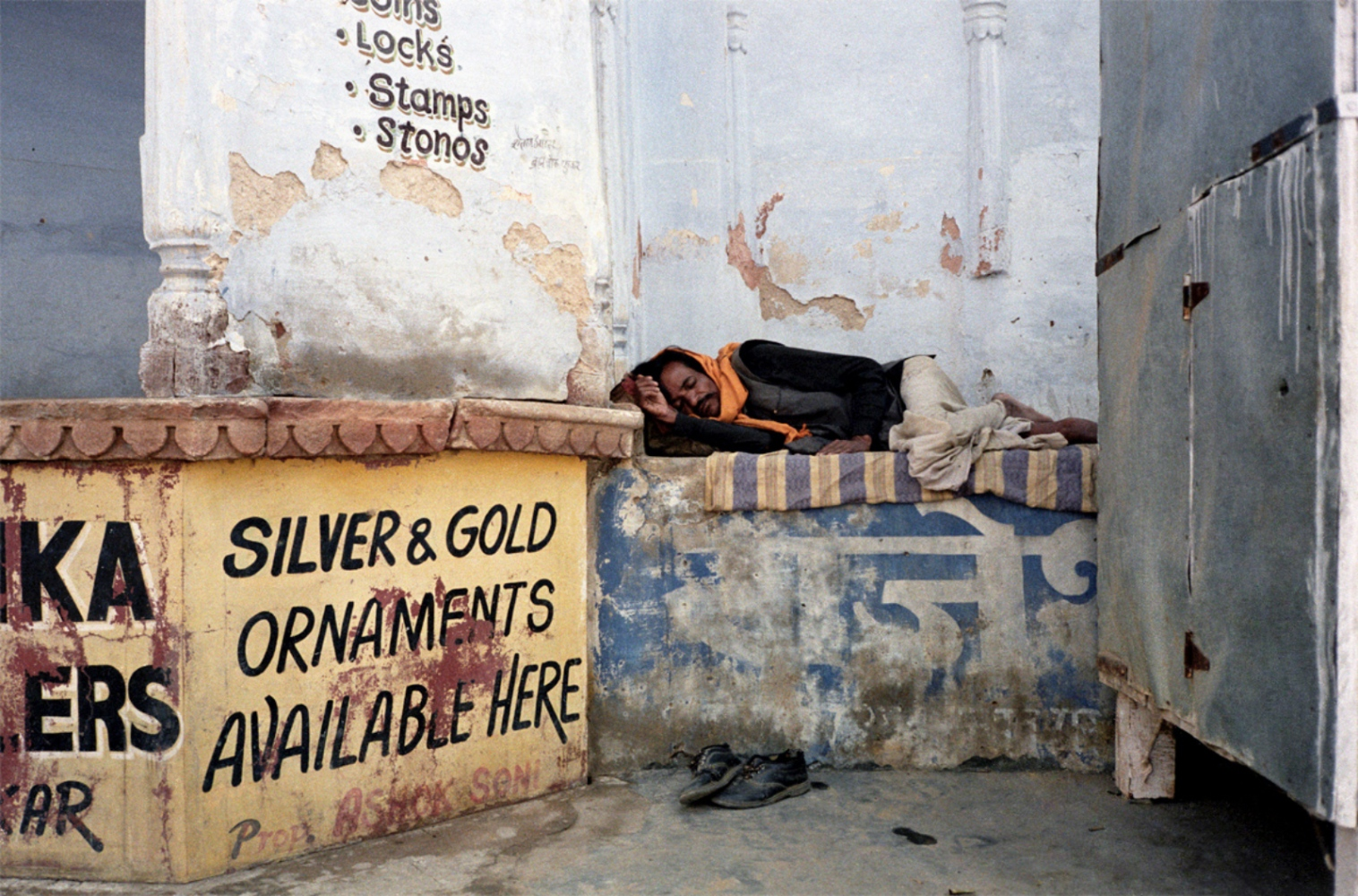 Sleeping Man, Silver and Gold, Pushkar, India, November 2003