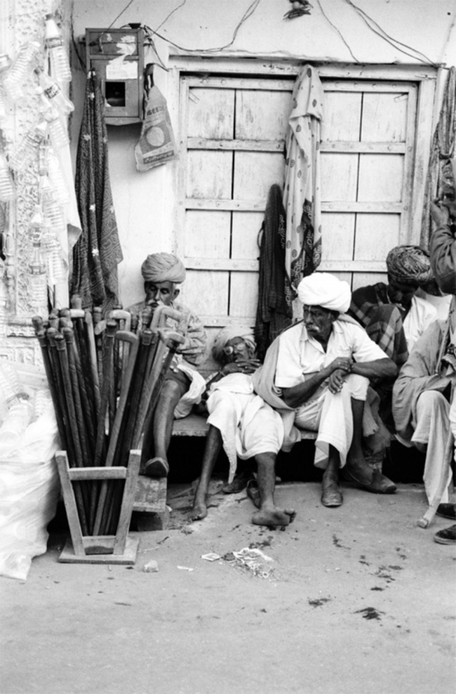Sleeping Men, Canes, Pushkar, India, November 2003