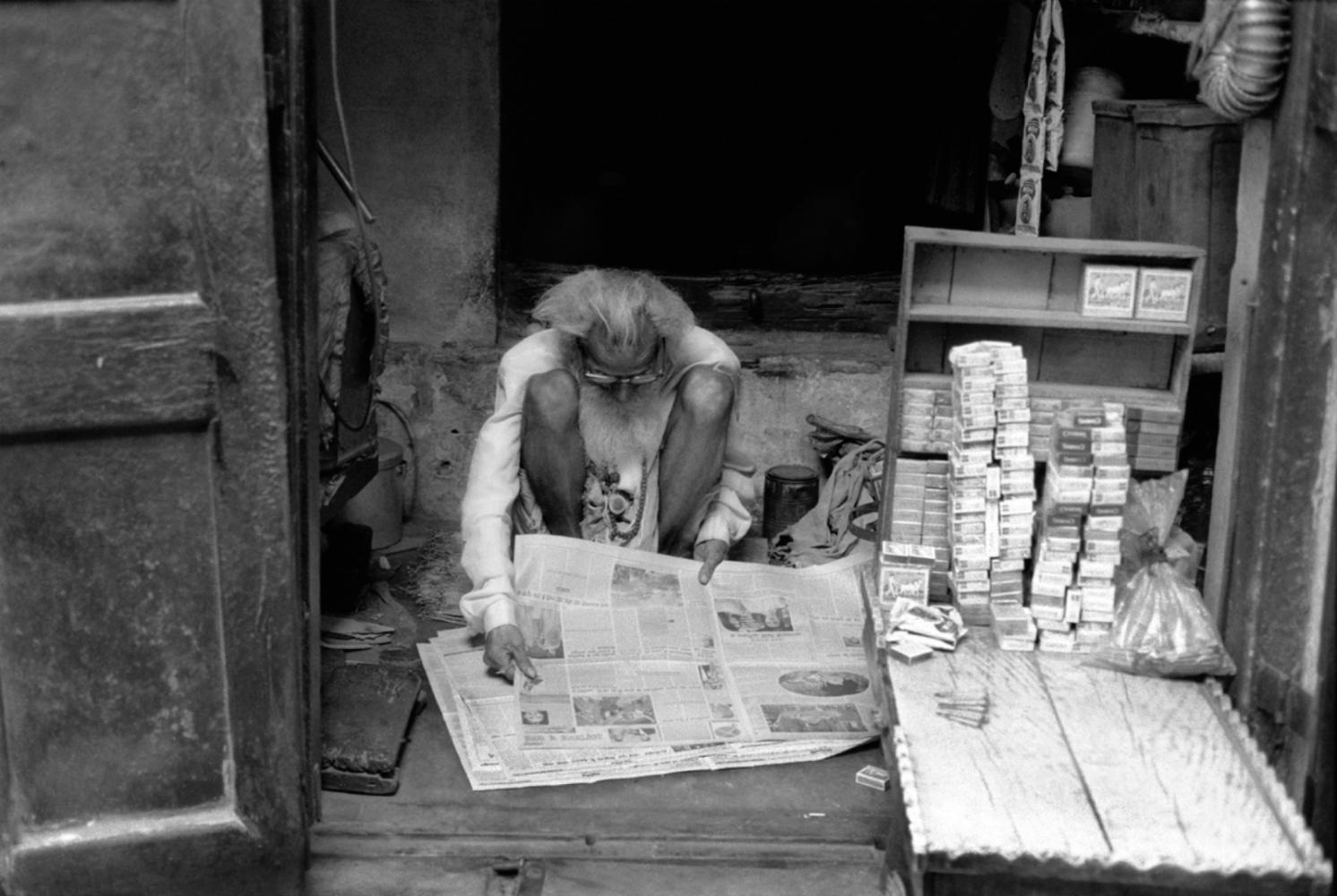 Cigarette Vendor, Varanasi, India, November 2003
