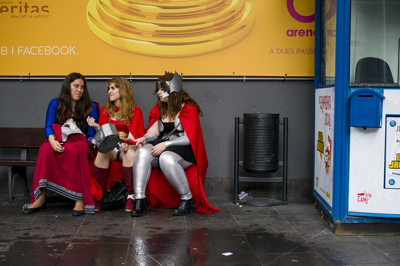 Thor, Wonder Woman and Super Girl. Barcelona. 2016