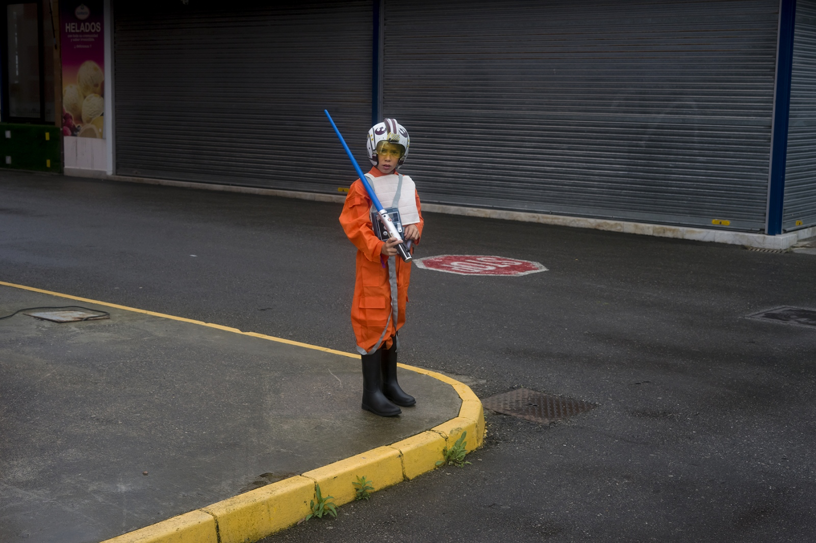 A little Star Wars fan. Gijón. 2016