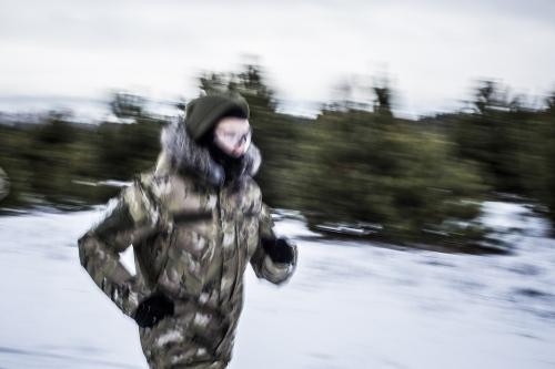 Volonteer training at the Marussia Batalion (right sector) in Kievska Oblast, close to Kiev.