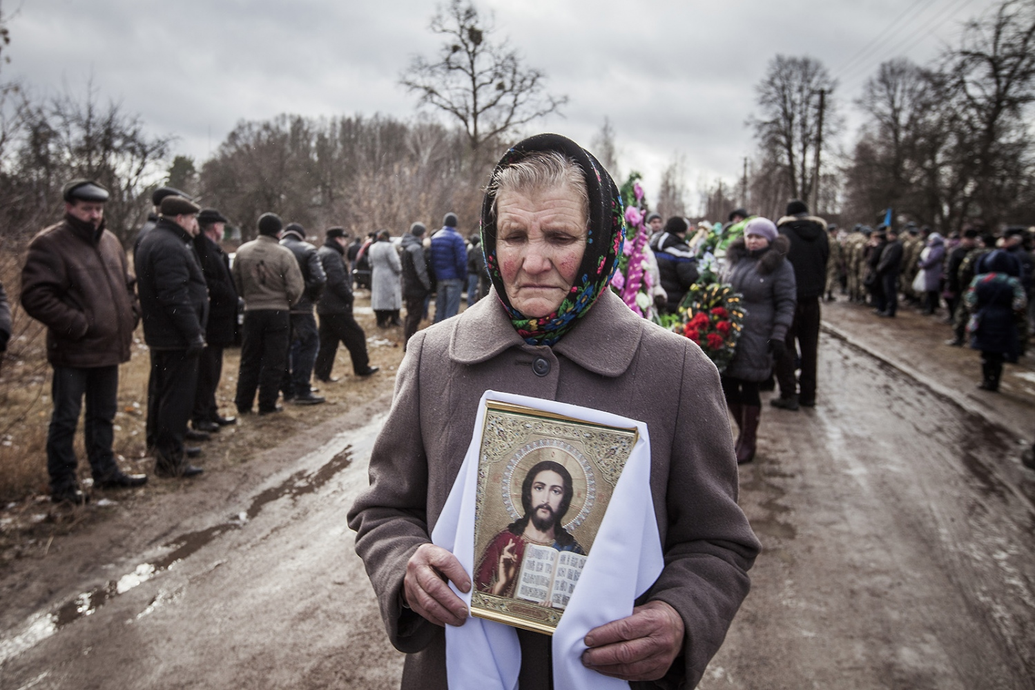 Soldier funeral out of Kiev, he was 23 years old, he died in a battle in the Est