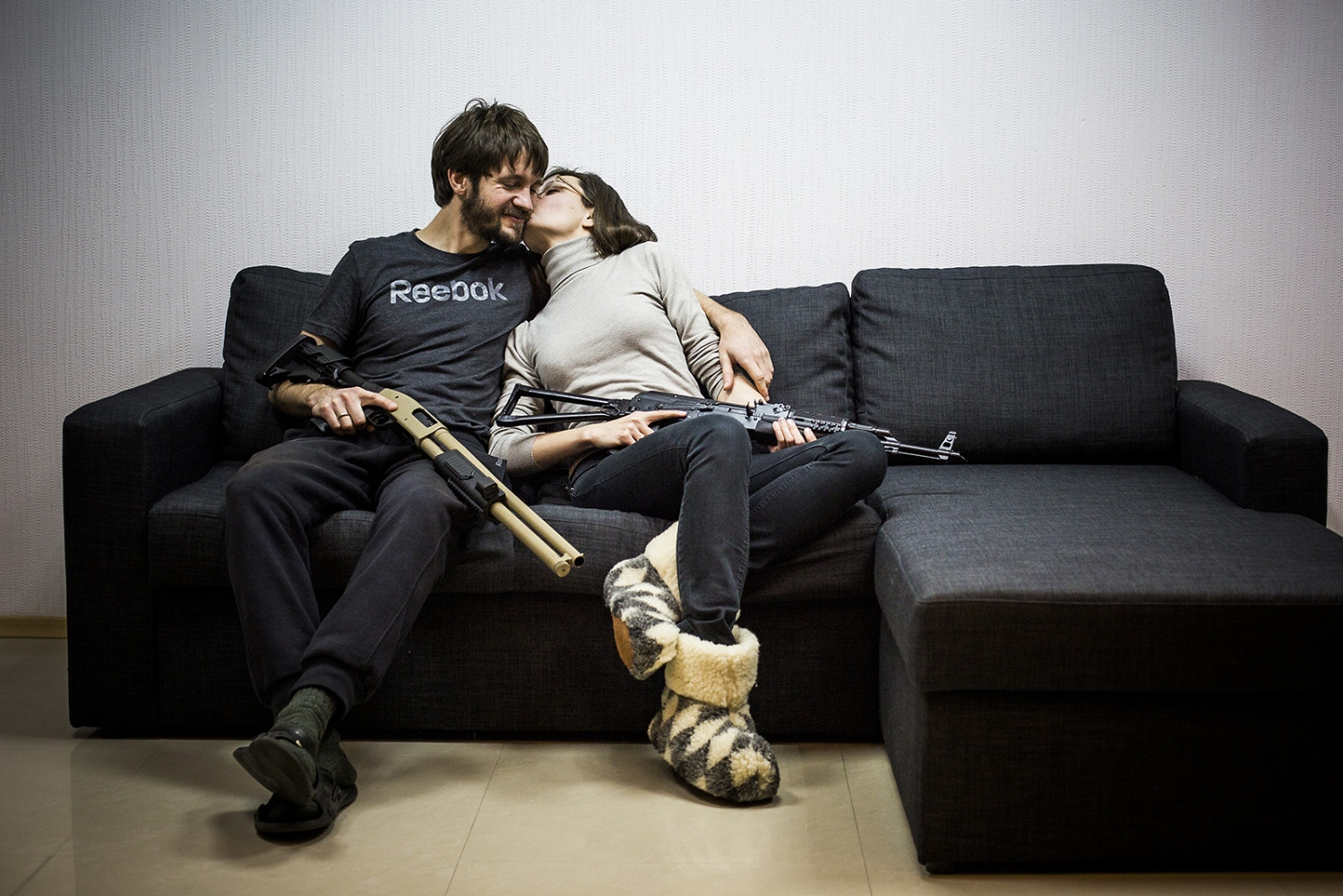 Daria and her husband, they are both lawyer in Kiev, they're very scared and prepared about the Rusian invasio.