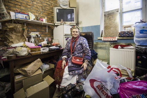 Xenia, leader in charge of the Main volunteer center for helping refugees in Kiev.