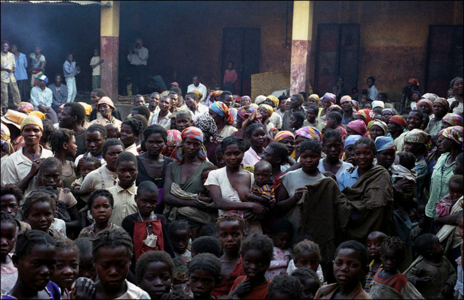 Large Group Looking at Me, Caala, Angola, July 2000