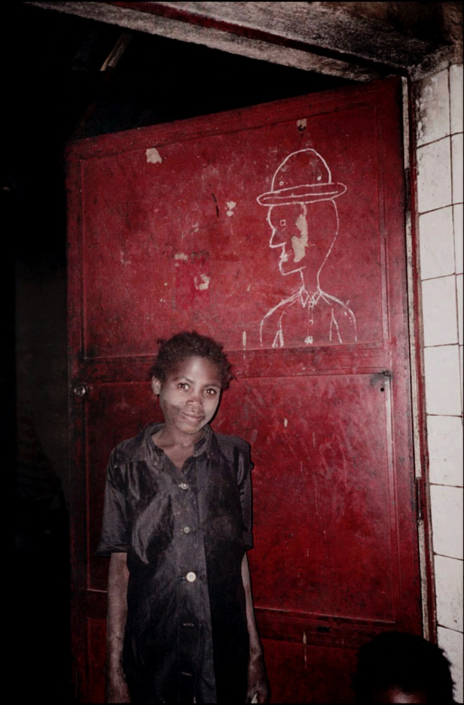 Girl by Red Door, Caala, Angola, July 2000