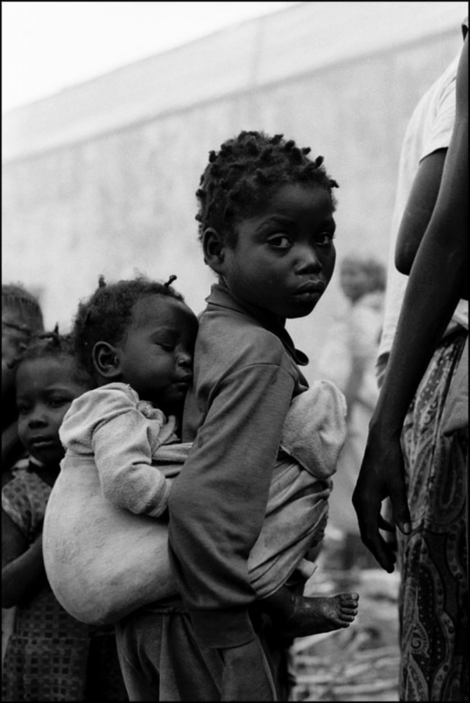 Child with Baby on Back, Caala, Angola, July 2000