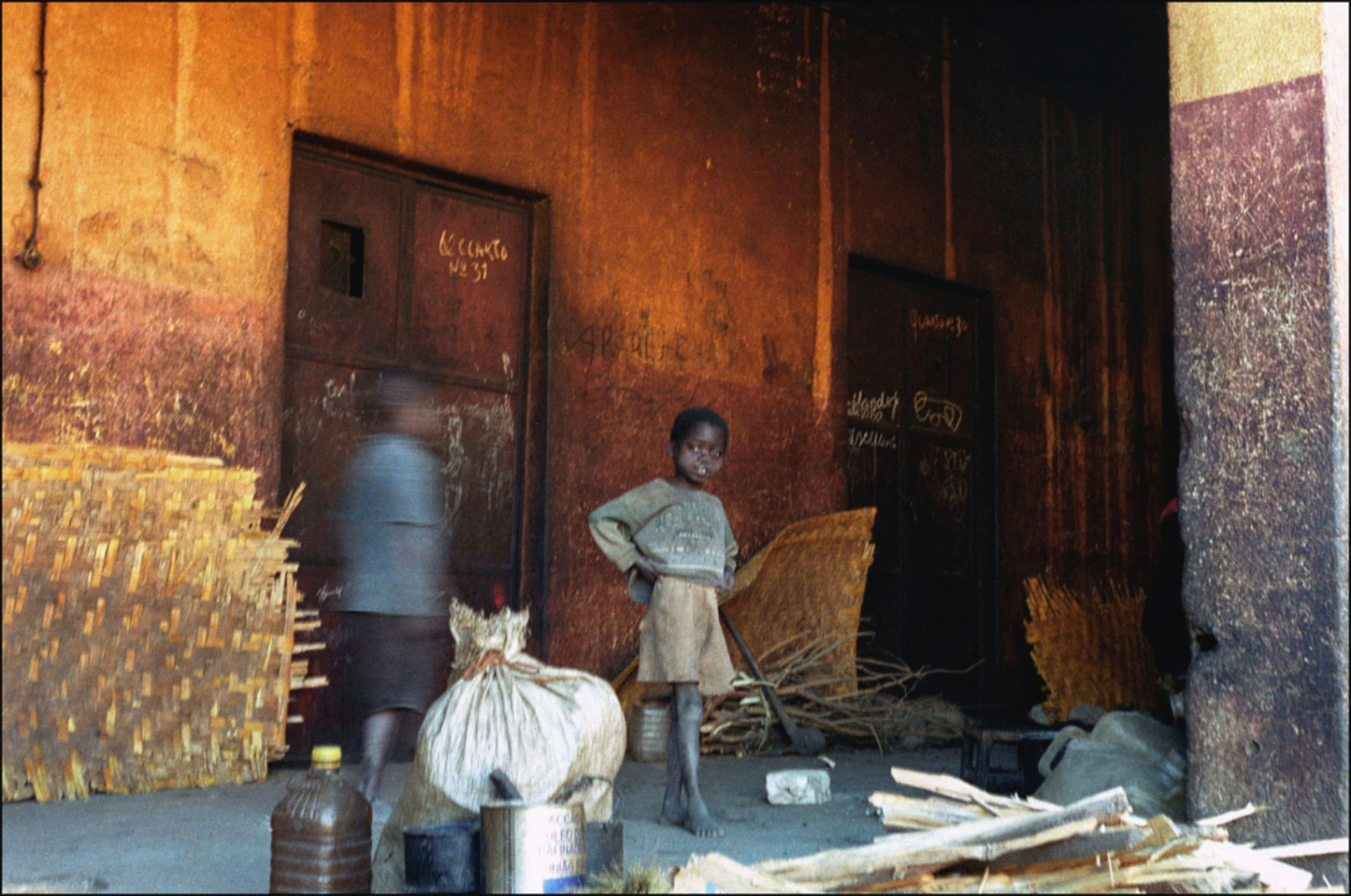 Girl and Blurry Friend, Caala, Angola, July 2000